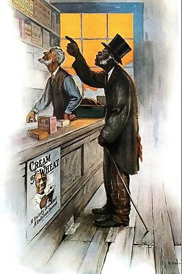 Cream of Wheat Ad 1914 Edward BREWER Large Antique Matted Advertising Print