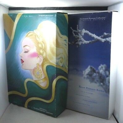 Lot of 2 1994 Limited Mattel Barbie Evergreen & Snow Princess in Original Boxes