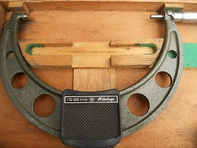 Mitutoyo Outside Micrometer 175m/m to 200 m/m with wooden case