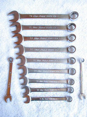 Blue Point Lot of 11 BOM Metric Combination Wrench. 12 Point. 9-19mm
