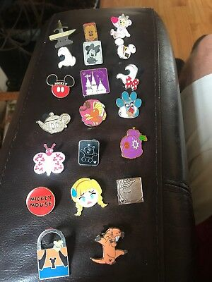 Disney Trading Pins Lot Of 20 No Doubles Hidden Mickey Limited Edition
