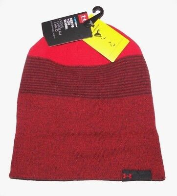 5c31d58a07e New Under Armour Mens 4-in-1 Reversible Acrylic Blend Knit Beanie Hat Cap