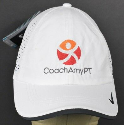 66ac7d6c6e5 WHITE COACH AMY PT Logo Embroidered baseball hat cap Adjustable ...