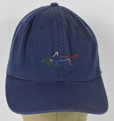 96316a7b153c8 Navy Blue Greg Norman Art Embroidered baseball hat cap Adjustable Leather  Strap
