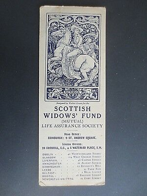 Antique BOOKMARK Scottish Widows Fund 1913 October Walter Crane Art Nouveau