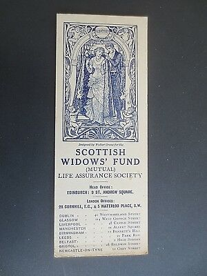 Antique BOOKMARK Scottish Widows Fund 1913 February Walter Crane Art Nouveau