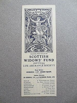 BOOKMARK Scottish Widows Fund MAY Walter Crane Art Nouveau Design No Date VGC