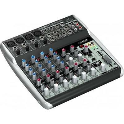 Behringer Q1202Usb Mixer 12 Ingressi 4 Compressori Usb Phantom +48V 2 Bus