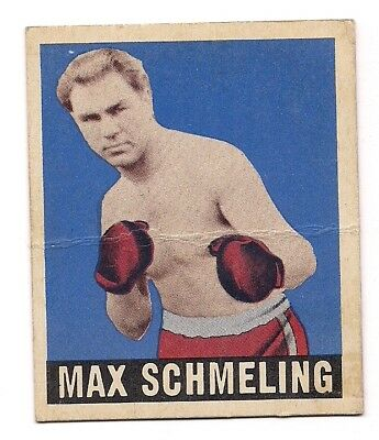 Vintage Rare 1948 Leaf Boxing Card Max Schmeling All Time Great Free Shipping