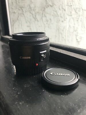 Canon EF 50mm f/1.8 II Lens With UV Filter