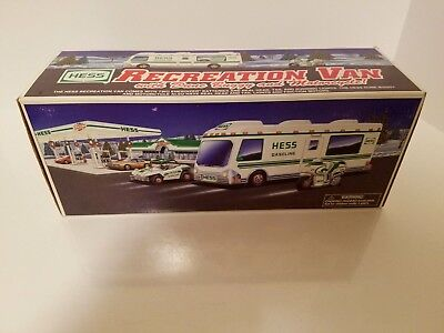 Hess 1998 Truck Recreation Van with Dune Buggy and Motorcycle ( NEW )