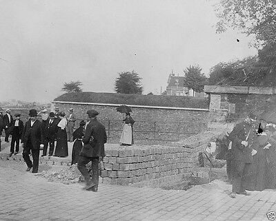 Trench and Barricade Fortifications Paris France World War I WWI 8x10 Photo