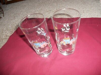 Two (2) HEARTLAND by International China Tumbler Drinking Glasses 8 ounce