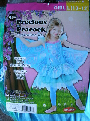 COSTUME *PRECIOUS PEACOCK* girl large 10-12 NEW WITH PACKAGING