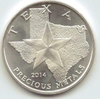 2014 Texas Metals Long Horns Style 1-Troy oz. Rounds.9999 Silver