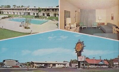 APOLLO Quality MOTEL Postcard  TITUSVILLE Florida FL Hotel Motel (#35)