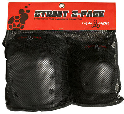 Triple Eight Street 2-Pack Pad Set Triple8 Street-2 Elbow/knee Lg