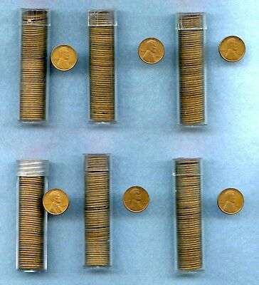 1934 1935 1936 1937 1938 1939 ~ Lincoln Wheat Cent Roll(S) ~ G-Au ~ 300 Coins