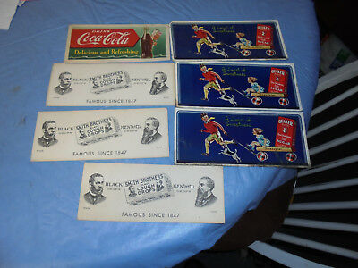 7 Vintage Ink Blotters. Coke,smith Bros,quaker Sugar