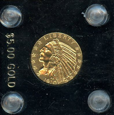 1910 $5 United States Indian Head Half Eagle Gold Coin AD391