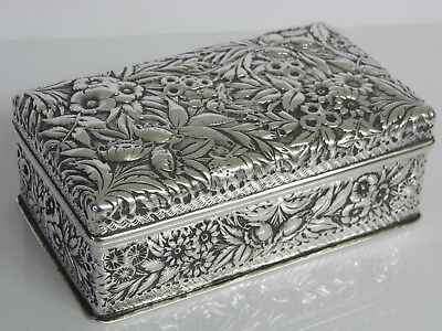 An Exquisite Antique Baltimore Jacobi & Jenkins Sterling Silver Jewellery Box