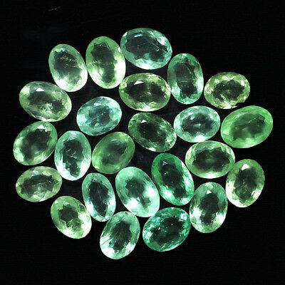 12 Pcs Untreated Natural Fluorite Sparkling Colombian Green Gems 22mm-28mm
