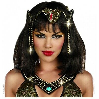 Goddess Costume Headpiece Renaissance Medieval Arabian Egyptian Queen Cleopatra