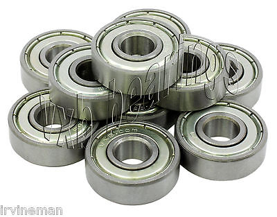 "Pack 10 R6 ZZ Ball Bearings 3/8"" x 7/8""inch R6ZZ Quality R6Z/Z Lot 0.375""9.525mm"