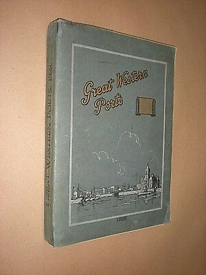 Great Western Ports 1928. Appleby. Gwr. Maps. Photos. Statistics. Very Rare.