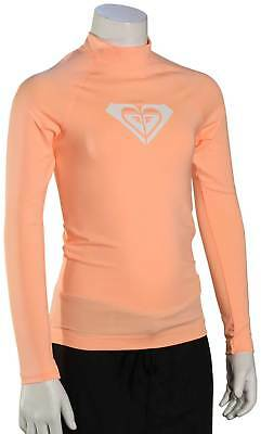Roxy Girl's Whole Hearted LS Rash Guard - Souffle - New