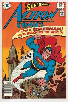 Action Comics #467 Nm 9.4 Undistributed, Unread & Unpressed Copy! Bronze Age Dc!