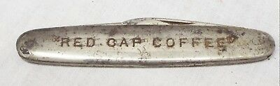 RARE Old Antique RED CAP COFFEE Advertising POCKET KNIFE Dixon Cutlery Co.