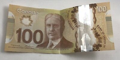 $100 Bank Of Canada Bill Used Circulated Currency Note
