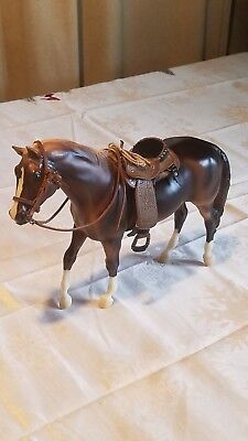 Breyer traditional horse with saddle and bridle