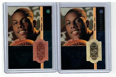 (2) 1998-99 Spx Finite Paul Pierce #220 Rc Lot Base 2127/2500 Radiance 1491/1500