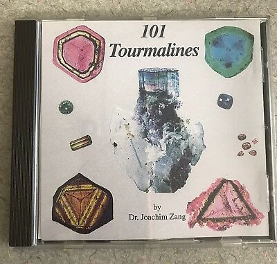 101 Tourmalines by Dr. Joachim Zang~CD of Photographs~1996 Germany
