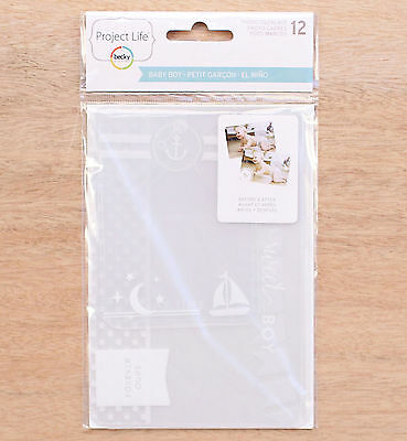 Project Life BABY BOY (12-pk) Photo Overlays scrapbooking 380545