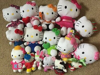 Ty Beanie Hello Kitty Assorted Variety Plush Dolls & Keychains Lot #b-Preowned