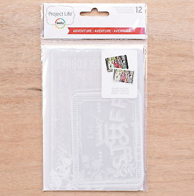 Project Life ADVENTURE (12-pk) Photo Overlays scrapbooking 380449