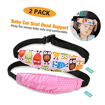 Donier 2 Packs Toddler Car Seat Neck Relief and Head Support, Pillow Pink