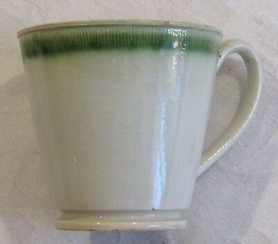 Antique Staffordshire Leeds Pottery Green Feather Edge Child's Toy Tea Cup