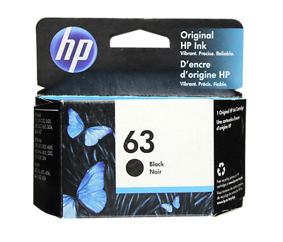 HP #63 Black Ink Cartridge 63 F6U62AN NEW GENUINE