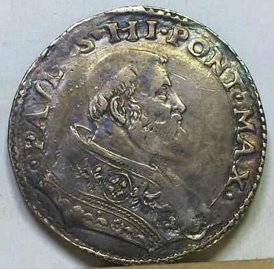 Italy Papal States Silver Bianco 1534-1549 About Very Fine