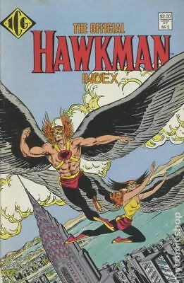Official Hawkman Index #2 1987 VF Stock Image