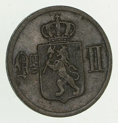 1902 Norway 2 Ore - Historic World Coin *307