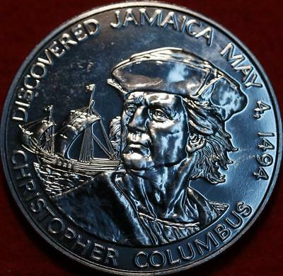 Uncirculated 1975 Jamaica $10 Columbus Discovery Silver Foreign Coin