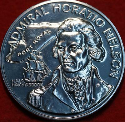 Uncirculated 1976 Jamaica $10 Admiral Horatio Nelson Silver Foreign Coin