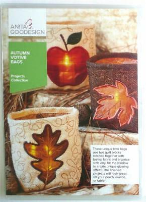 Anita Goodesign Autumn Votive Bags Projects 15 Different Bag Designs NEW PROJ94