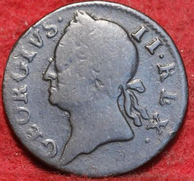 1760 Ireland Farthing Foreign Coin