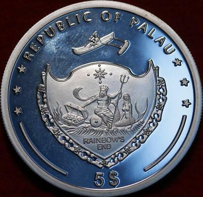 Uncirculated Proof 2007 Palau $5 Pacific Wildlife Prism Silver Coin